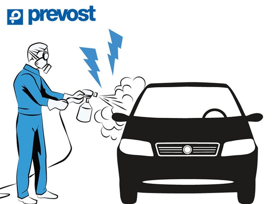 paint workshop - compressed air PREVOST
