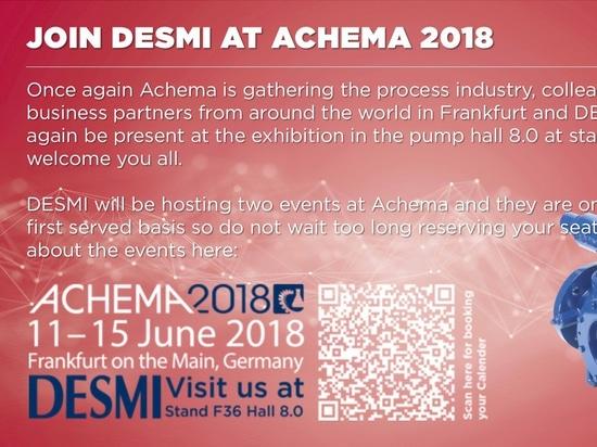 JOIN DESMI AT ACHEMA 2018