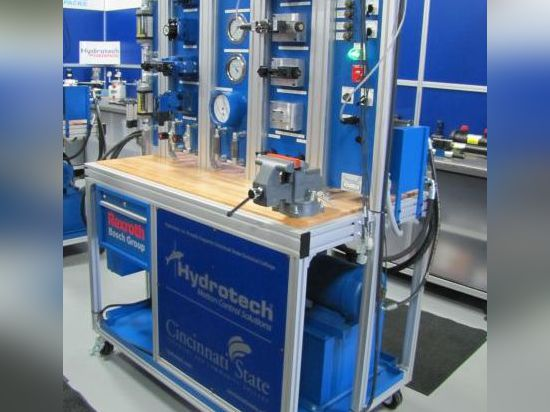 Four hydraulic training stands like this one are going to Cincinnati State's Electro-Mechanical Engineering program to help train technicians in the fluid power industry.