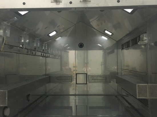Temperature humidity and salt spraying combined test chamber-- Automatic testing