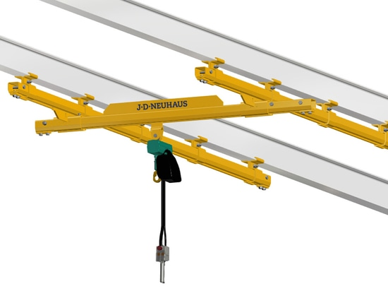 3D Model of a JDN light crane system, to be shown for the first time at LogiMAT 2017