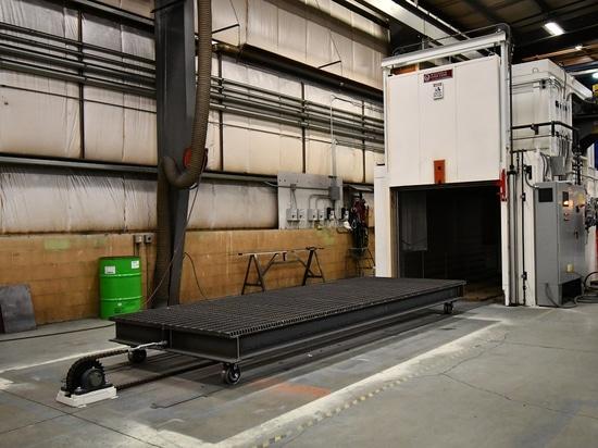 Walk-in Oven Heat Treats Aluminum Parts