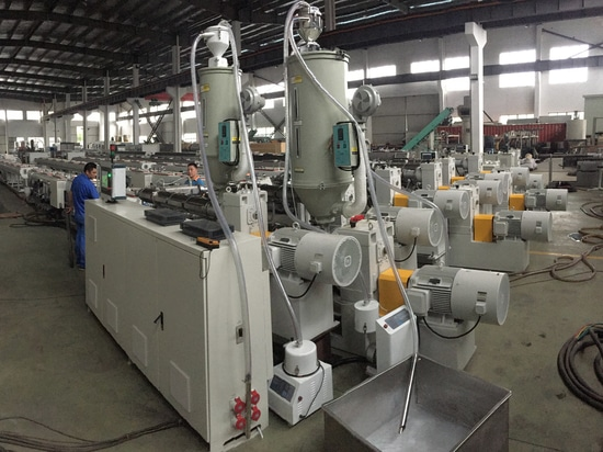 Ppr ppr dual pipe extrusion line finish testing in our factory