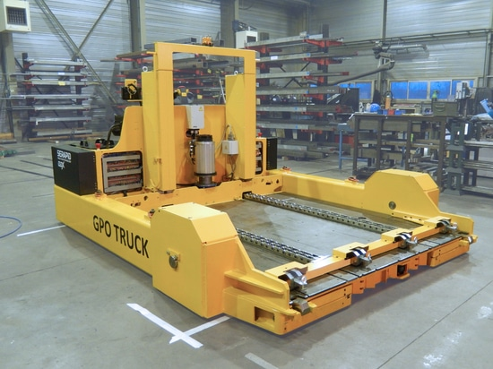 Die stacker (GPO truck) for low handling height, 20T capacity
