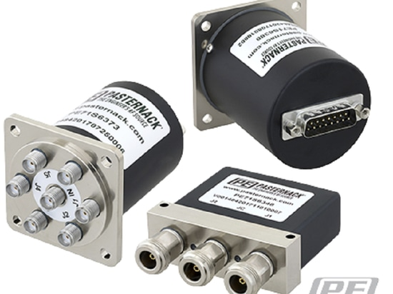 Pasternack Electro-Mechanical RF Relay Switch Series with D-Sub Control