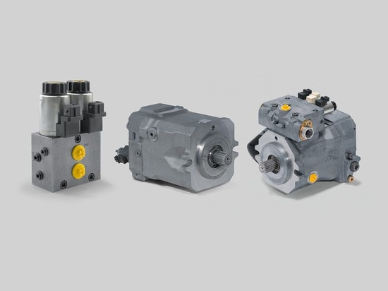 Key components in the Linde Hydraulics Shift in Motion traction drive include a gear-shift control valve, HMV variable displacement motor, HPV variable displacement pump and associated controls.