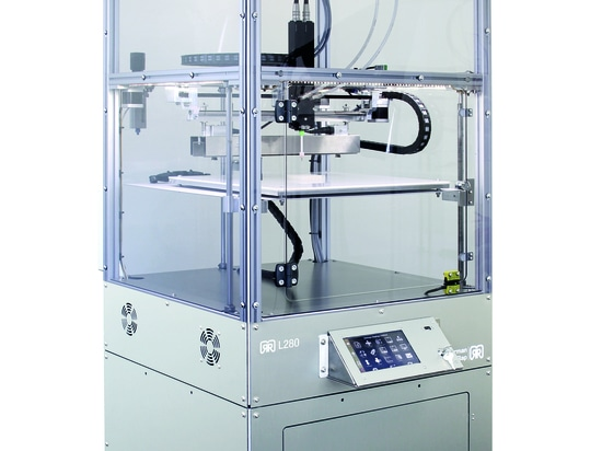 The L280 3D printer. Photo via German RepRap.