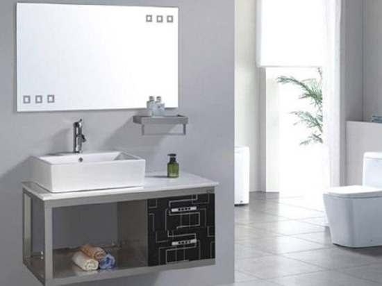 HGTECH Laser cutting machine creates stainless steel bathroom