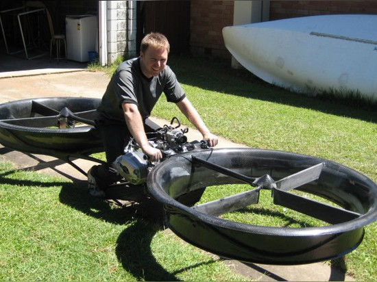HOVERBIKE BY MALLOY AERONAUTICS COMBINES MOTORCYCLE AND HELICOPTER