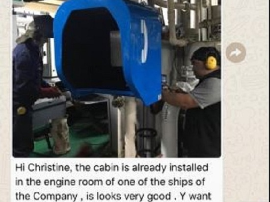 Acoustic Telephone Booth for Ship Engine Room Project