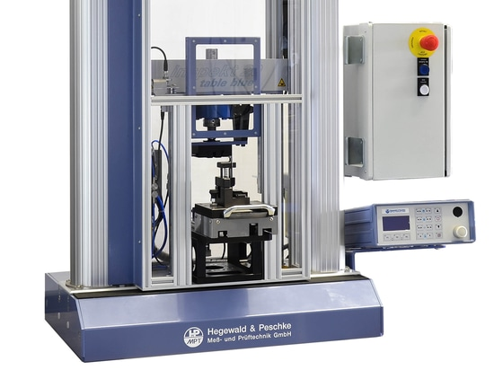 Testing machine Inspekt 20kN with special device for shear tests on contact elements