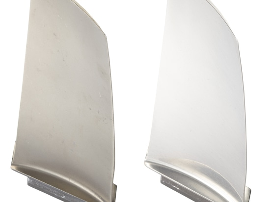 A turbine blade pre- and post-processing