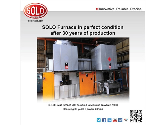 SOLO furnace in perfect condition after 30 years of production, 6 days/7, 24h/24 !