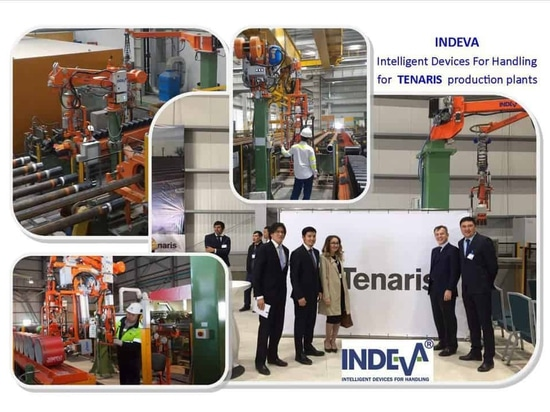 INDEVA® manipulators are  now at work in different work stations in different Tenaris plants