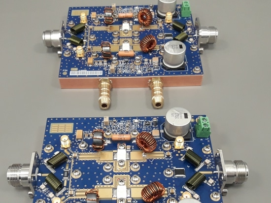 Complete assembly of the RF power amplifier at ISM 27MHz for Industrial Heating