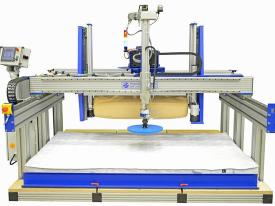 Roll and hardness test bench for mattresses