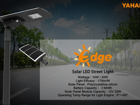 New arrival : Yaham lighting Edeg solar led street light for urban and rural lighting
