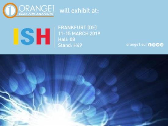 Orange 1 Electric Motors at ISH - Frankfurt