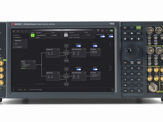 The M9384B VXG microwave signal generator offers dual coherent channels.