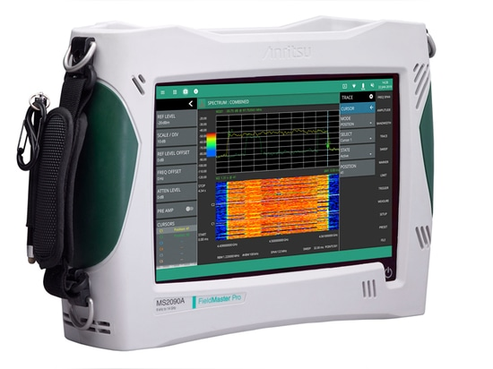 2. The large size of the display screen relative to the compact housing makes the Field Master Pro MS2090A spectrum analyzer a powerful field measurement tool.