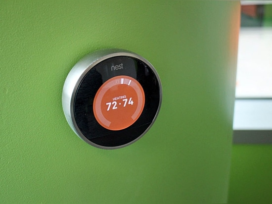 Fig. 3: the Nest Learning Thermostat controller. (Image credit: Robert Basic under Creative Commons license.)