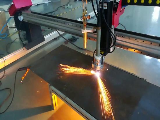 SteelTailor DragonIII portable gantry CNC cutting machine cutting video