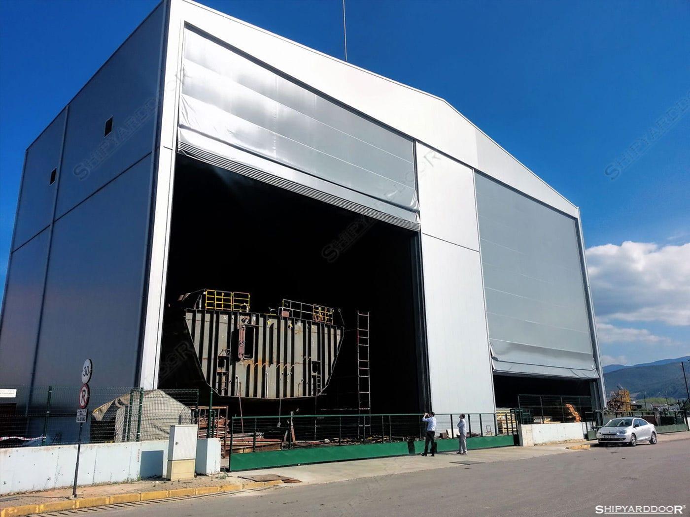 造船所用ドア 積み重ね式 スチール製 布製 shipyarddoor hangar
