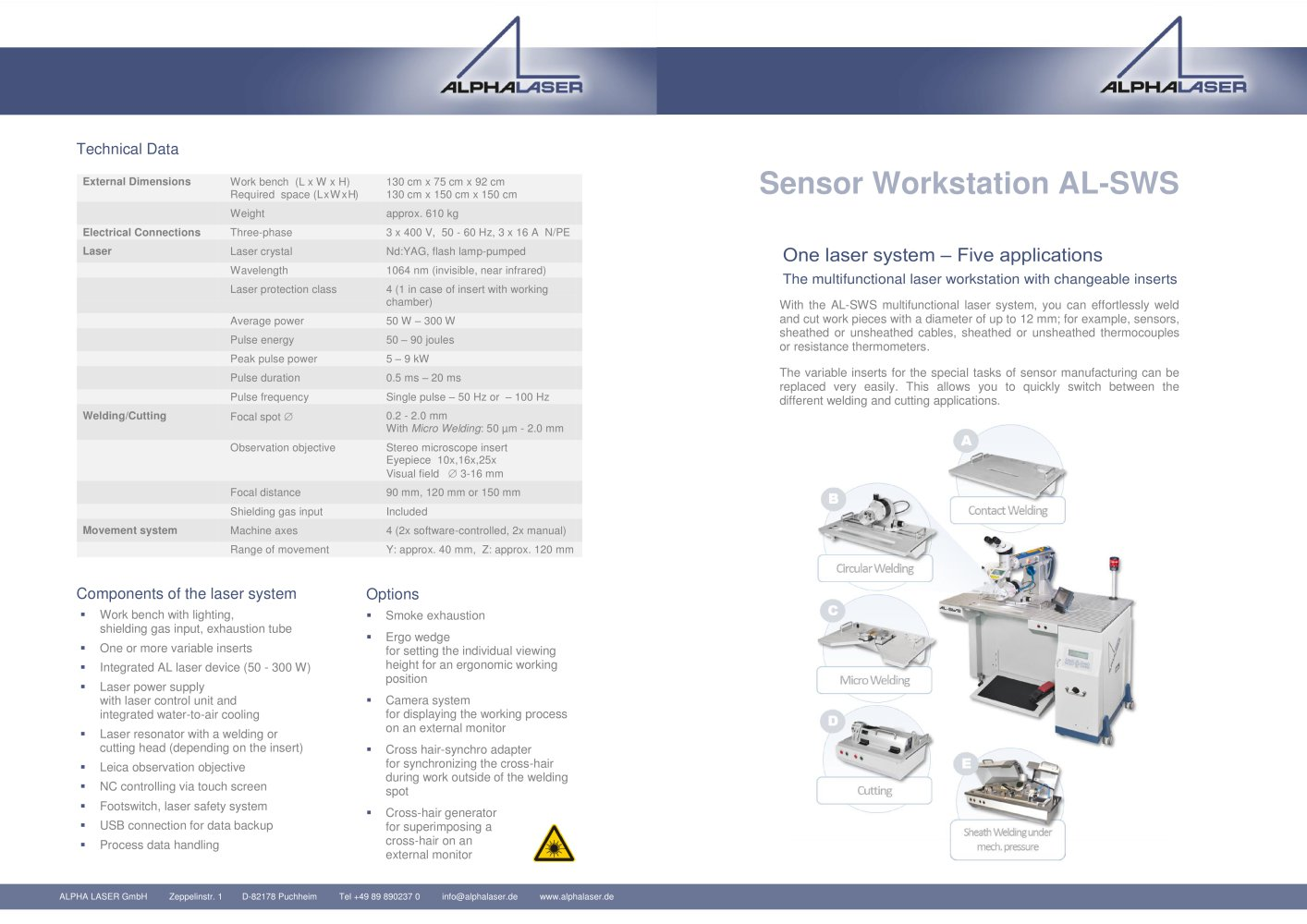 Al Sws Alpha Laser Gmbh Pdf Catalogue Technical Documentation Cutter Power Supply Wiring Diagram 1 2 Pages