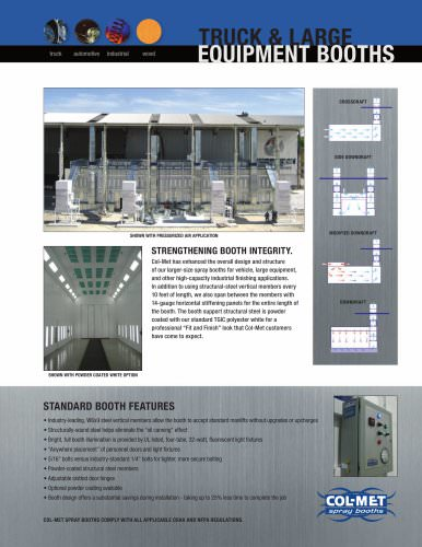 TRUCK AND LARGE EQUIPMENT BOOTHS - Col-Met - PDF Catalogs