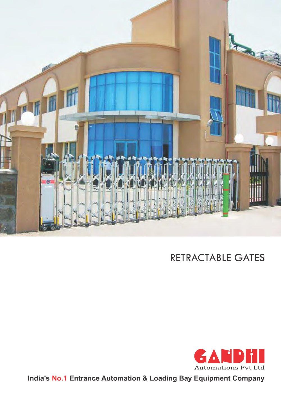 retractable gates  gandhi automations pvt ltd  pdf catalogue  - retractable gates     pages