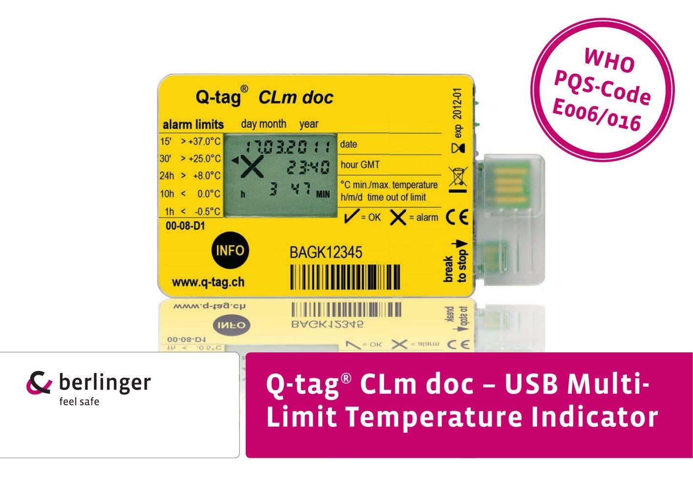 Brochure Q-tag® CLm doc - Berlinger & Co. AG - PDF Catalogue ...
