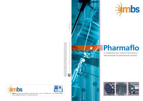 pharmaflo heat exchanger for pharmaceutical industry