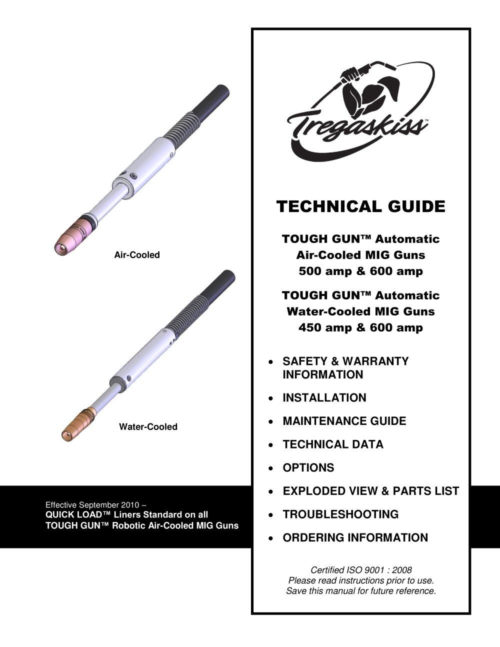 TOUGH GUN Automatic MIG Guns Owner's Manual - 1 / 16 Pages