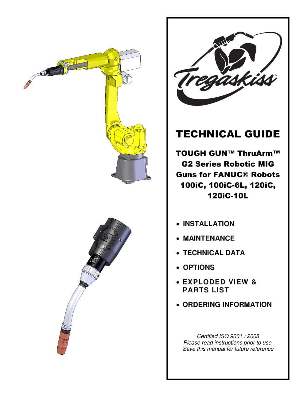 TOUGH GUN ThruArm G2 Series MIG Guns for FANUC Robots Owner's Manual - 1 /  16 Pages
