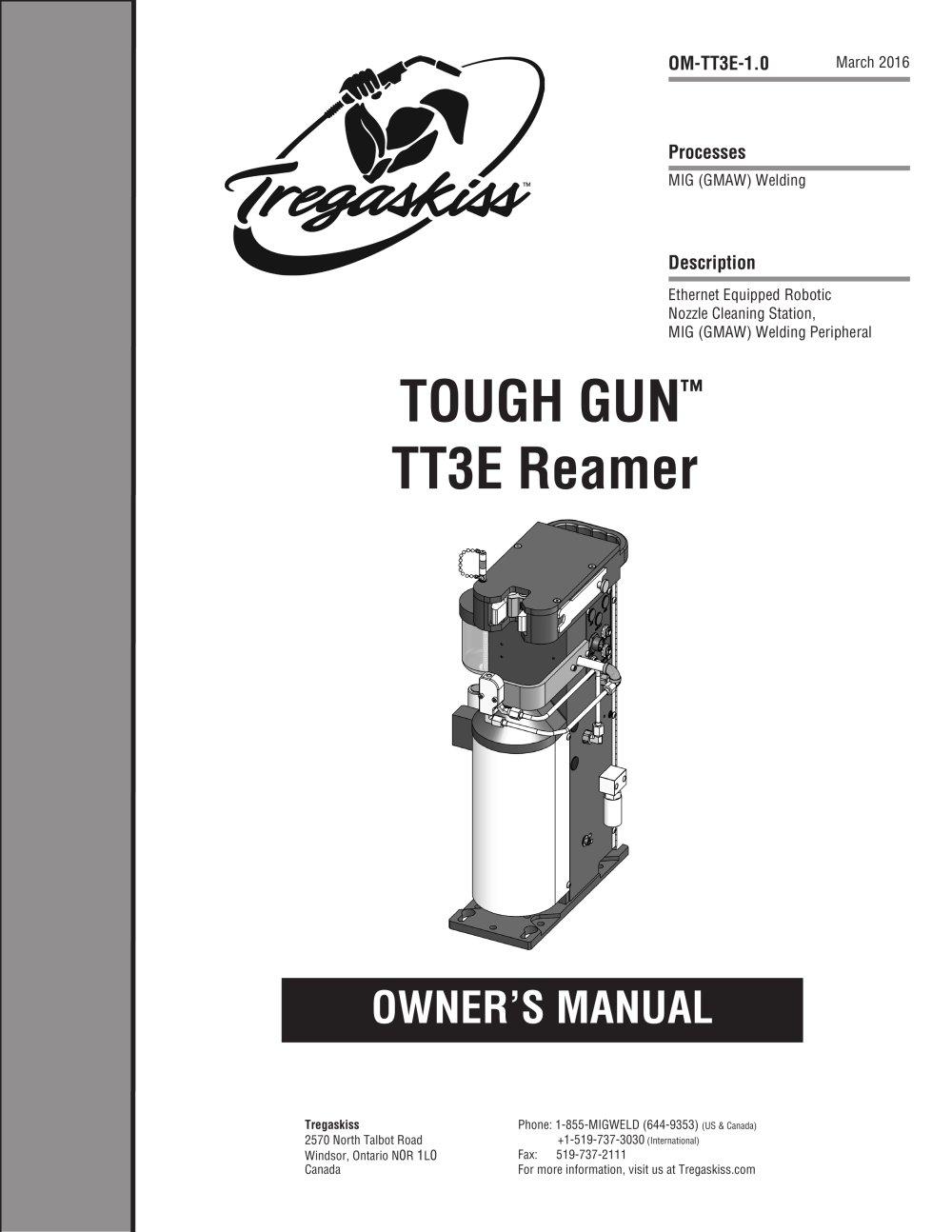 TOUGH GUN TT3E Reamer Owner's Manual - 1 / 36 Pages