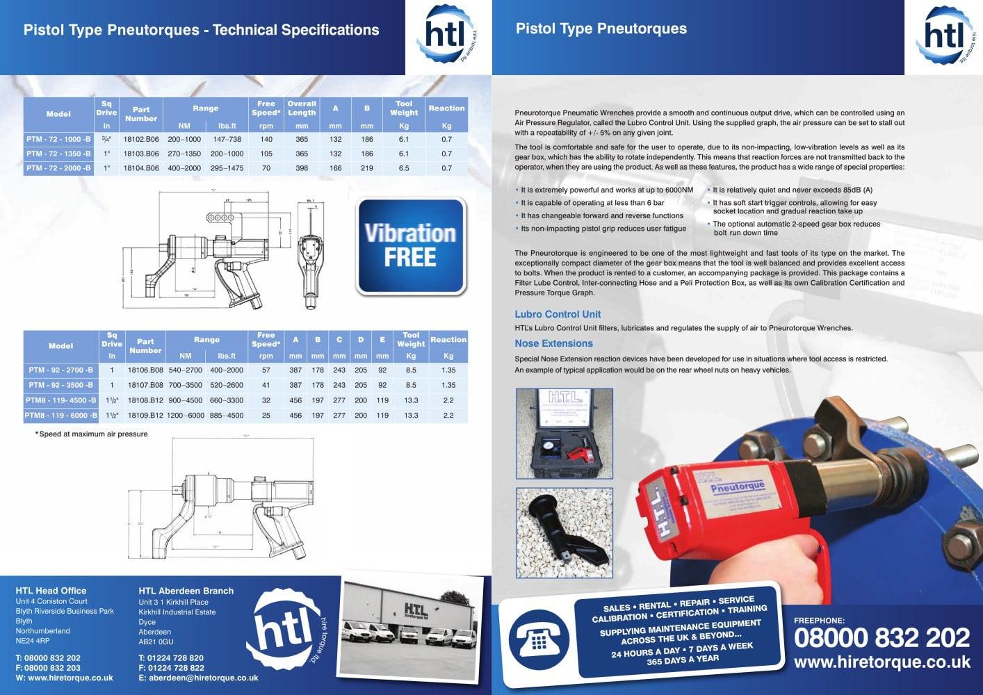 Pistol Grip Range Htl Hire Torque Ltd Pdf Catalogue