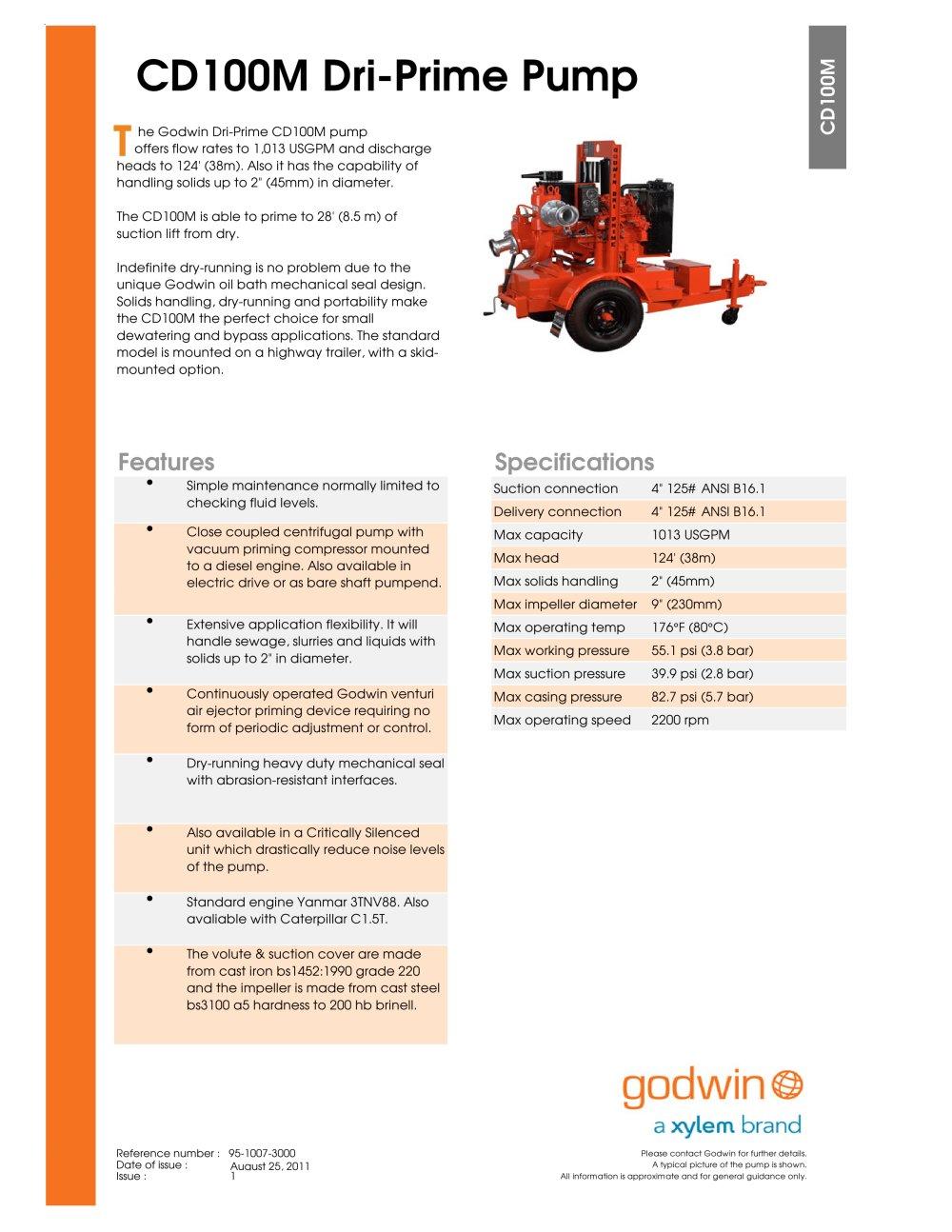 cd100m godwin pumps pdf catalogue technical documentation rh pdf directindustry com Godwin Bypass Pumping Pumps Godwin Pump Service Manual