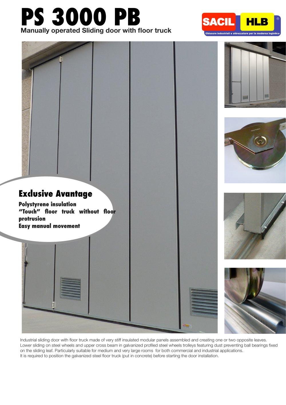 Sliding Doors With Floor Track Ps 3000 Pb Sacil Hlb Pdf