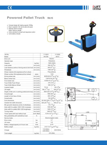 i-Lift Electric Pallet Truck RA15