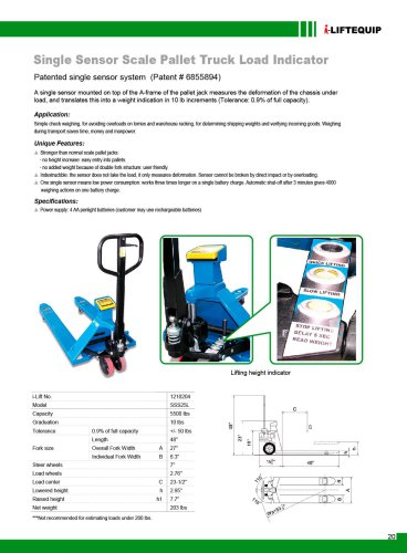 i-Lift/Hu-Lift Hand pallet truck with scales SSS25L