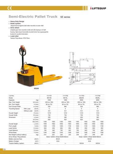 i-Lift/Hu-Lift Semi-electric pallet truck SE15