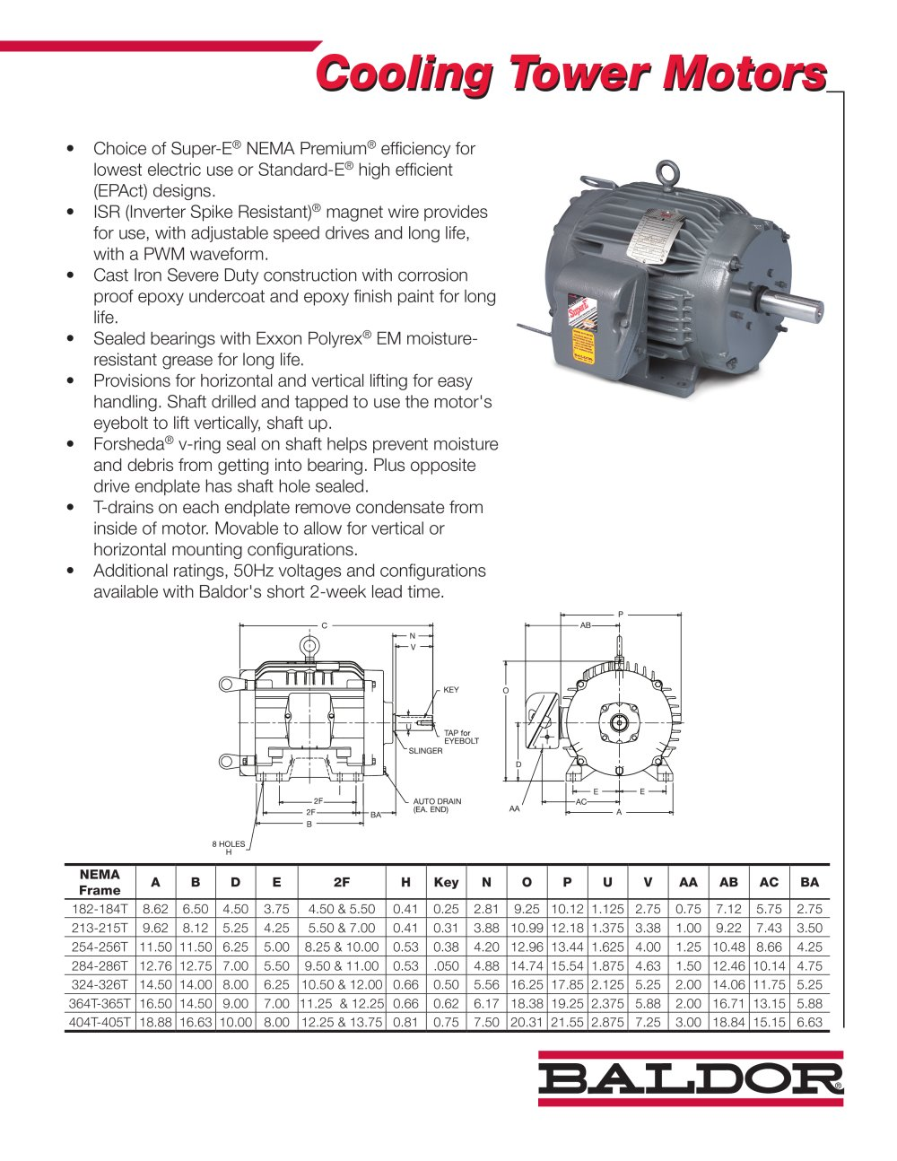 Cooling Tower Motors - 1 / 2 Pages