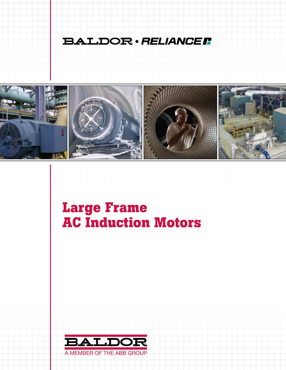 Large Frame Ac Induction Motors Baldor Electric Company Pdf High Voltage And Low Wiring 1 55 Pages