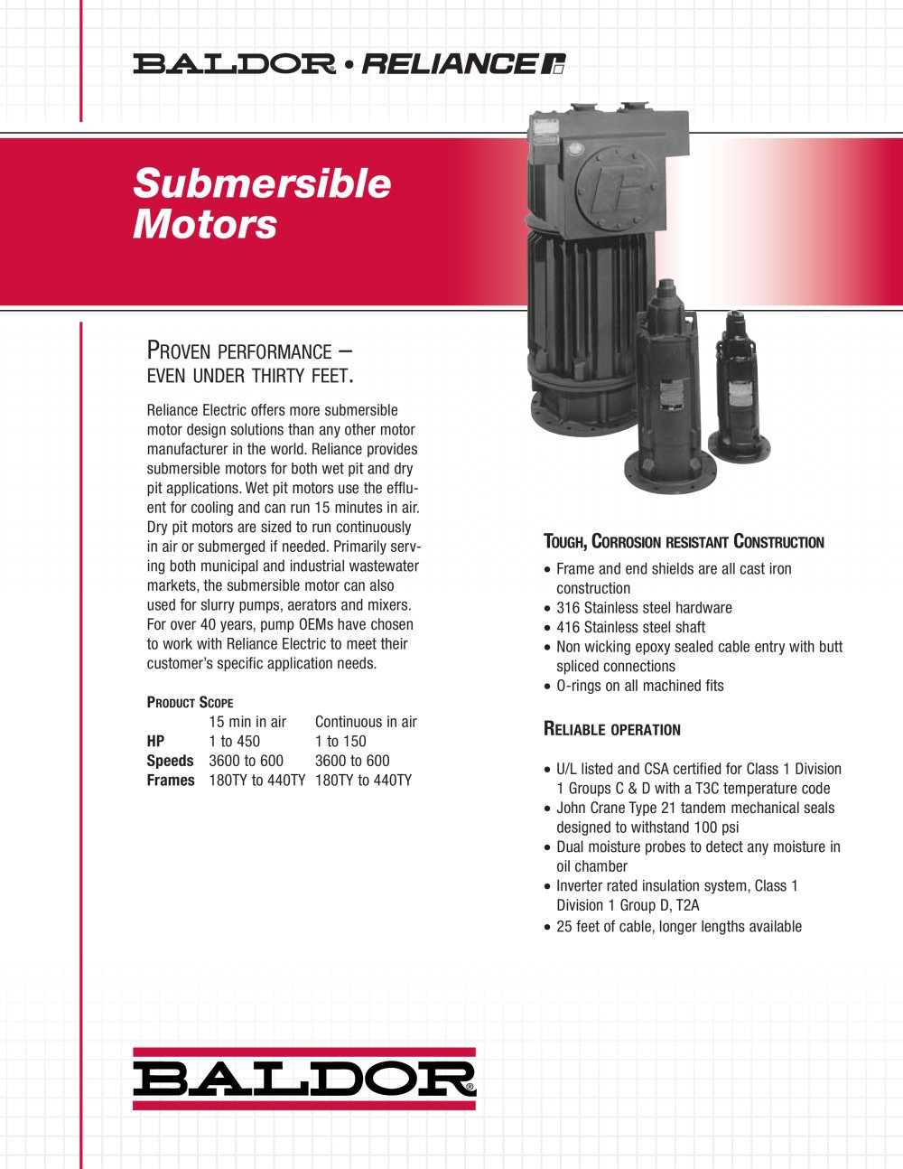 Submersible Motors - Baldor Electric Company