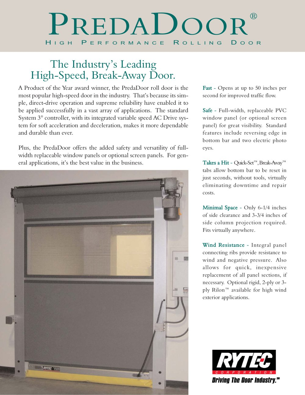 PredaDoor : High Performance Rolling Door   1 / 2 Pages
