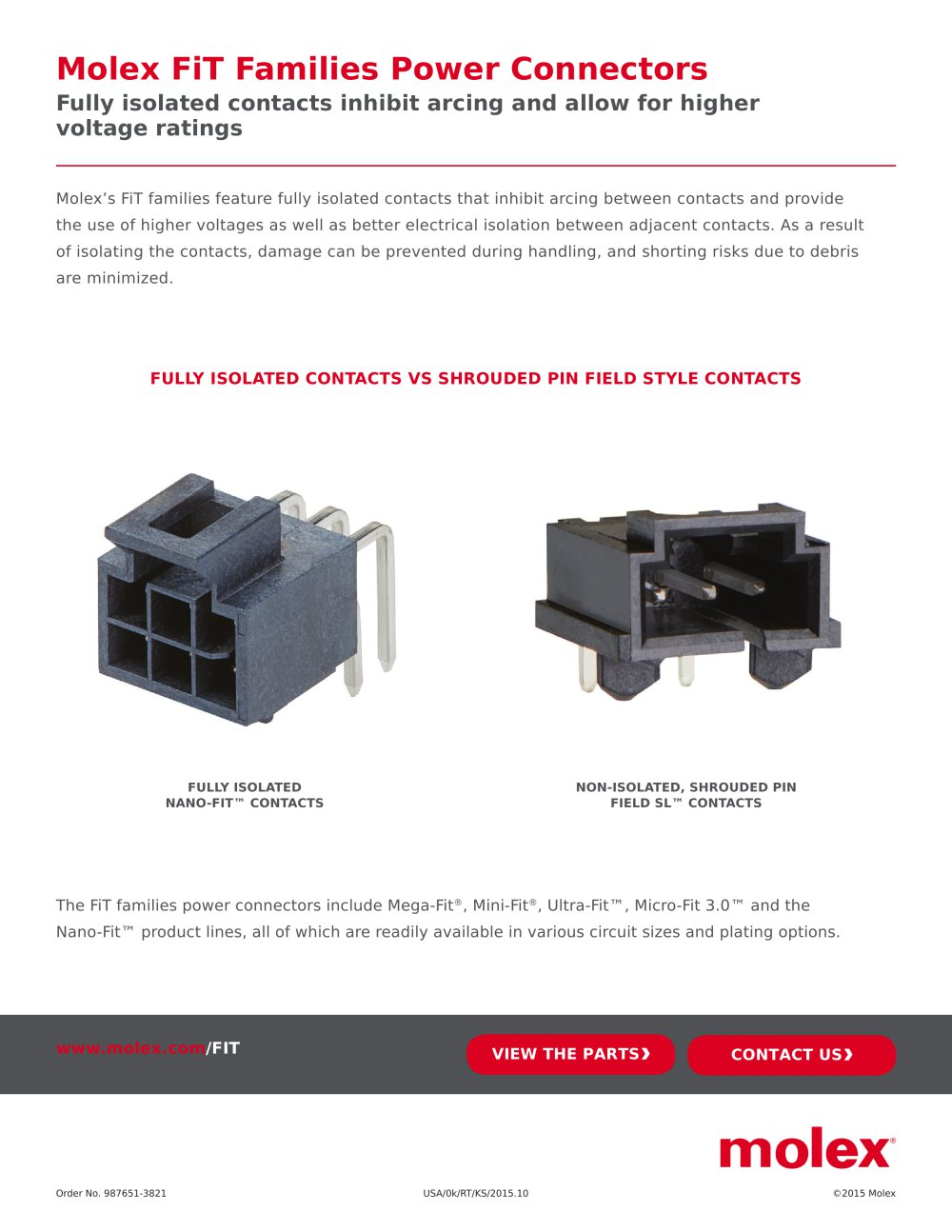 Molex Fit Families Power Connectors Pdf Catalogue Pin Wiring Diagram 1 Pages