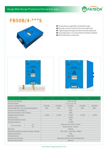 FATECH BOX TYPE SPD FB50B