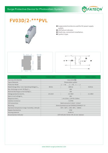 FATECH DC Surge Protector FV03D/2-24PVL with LED display