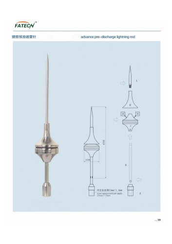 FATECH Lightning rod catalogue for outdoor protection