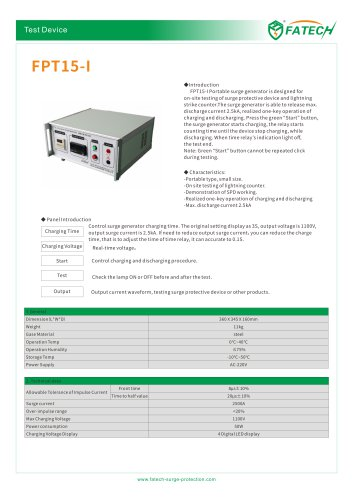 Fatech portable surge generator FPT15-I surge arrester testing